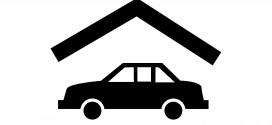Garage für das Auto ist praktisch