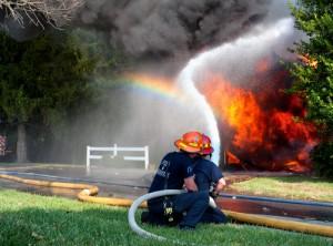 Wasserschaden nach Brandlöschung
