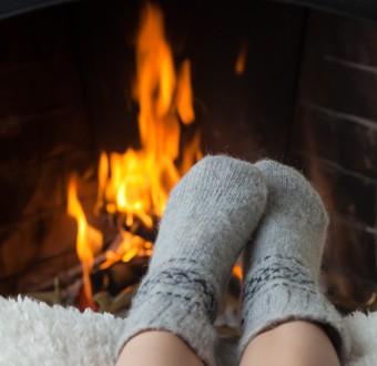 Wohlige Wärme durch Holzofen-Kamin